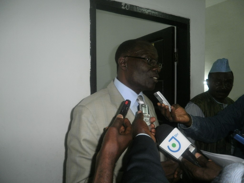 Dr. Andrew Eneme Ngome, SOWEDA GM addresses the press after board meeting