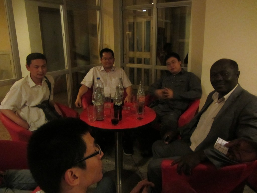 Mr Fotso Mambou Michel and a Chinese team en route to Menchum Hydroelectric.