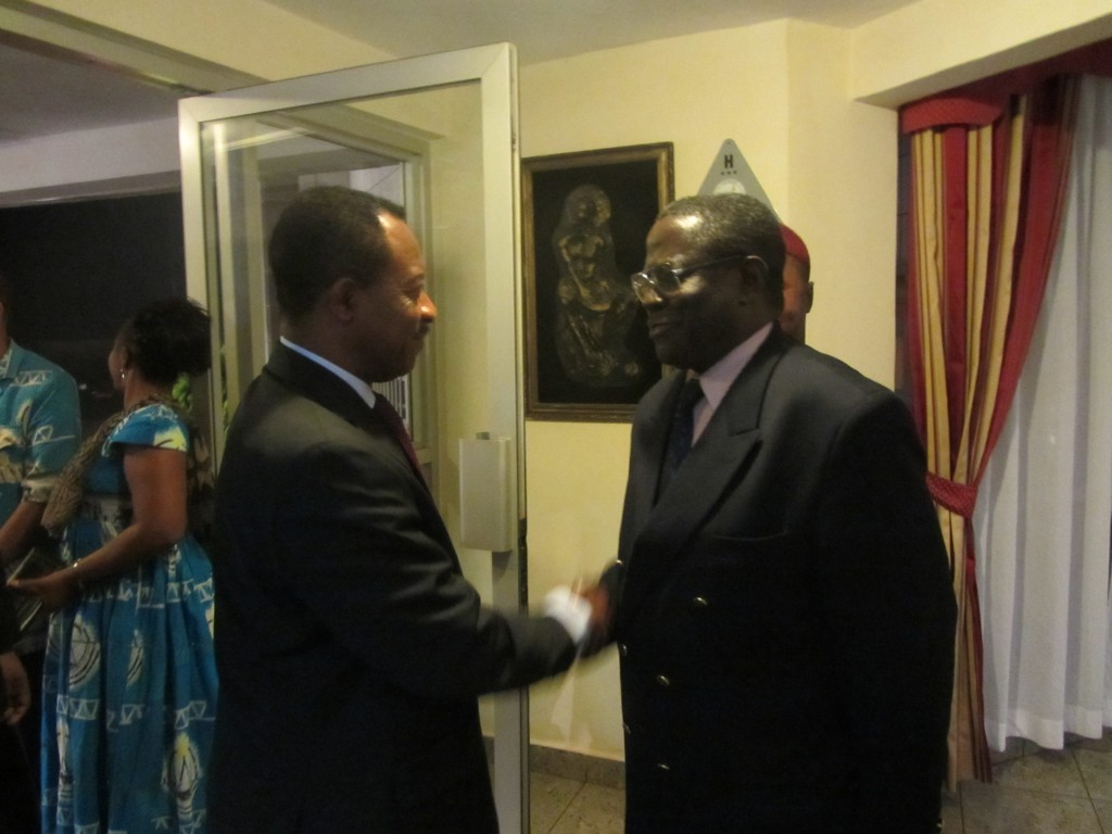 The Minister of the economy, Planning and Regional developement, Emmanuel Nganou Djoumessi welcomed at Azam Hotel Bamenda