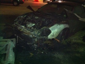 Ms Evodie's Mitsubishi Eclipse caught fire from a shorted battery