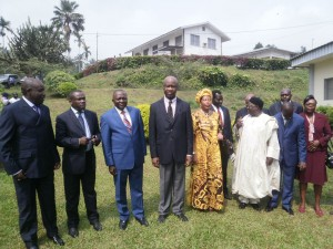 Essimi Menye of MINADER, fourth from the left, with Officials of MINADER & IRAD pose for a family picture after the MOU