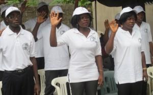 IBiNS Trainees taking Matriculation Oath