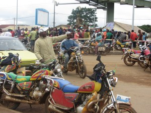 10bikes is to 1 taxi, Amusement Park junction Kumba