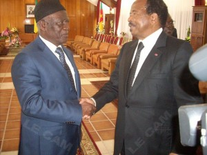Fru Ndi & Biya in historic handshake
