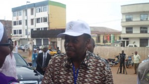 Edem Kodjo, ancien président de l'Union Africaine et chef de mission d'observation