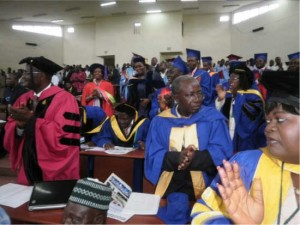 University dons give a standing ovation to Prof Titanji