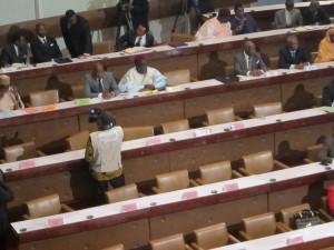 Les sièges réservés au SDF sont vide à 16 heures (photo DIBAMOU)
