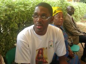 Axel Onana, encadreur Vacances sans Sida, Yaoundé le 18 juillet (photo Dibamou)