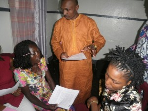 Workshop facilitator shares idea with participants