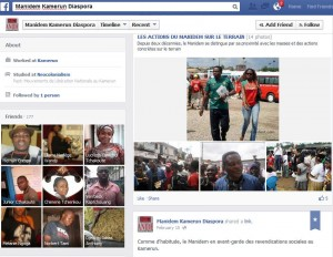 Page Facebook du Manidem. Anicet Ekane, un membre du parti à première vue