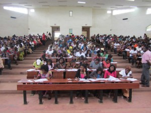 Candidates taking competitive exam into the Teachers' Training College (ENS) of the University of Maroua