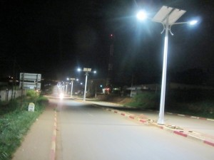Solar energy brightens the Soa-Ngousso highway