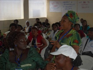 A Participant makes a point on the types of violence faced by women in the Bakassi area