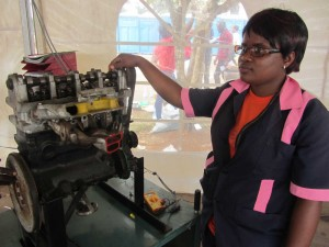 Ngopohla Therese Flore, Auto Mechanic Student