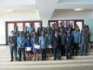 Delegate General for National Security, Martin Mbarga Nguelle and graduates from EIFORCES, Yaounde