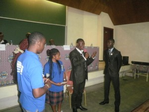 Members of the UB Commonwealth Students' Union perform a sketch on the virtues of the Commonwealth of Nations