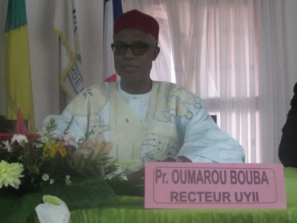 Rector of the University of Yaoundé II Prof Oumarou Bouba