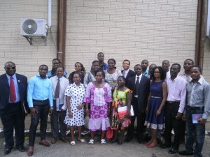 Officials of CAMFOMEDICS and their Cameroonian counterparts in a family pic after weeklong training workshop