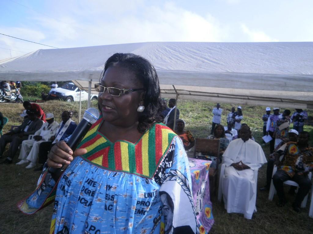 MP for Fako West Constituency, Hon Lifaka addresses militants in Bonjongo