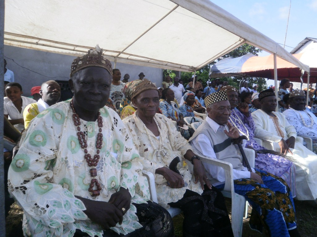 The traditional rulers of the Bonjongo Court Area also answered present at the rally