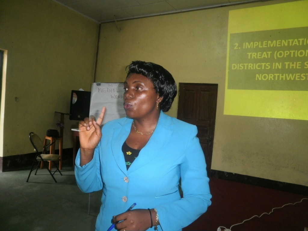 Eveline Mboh Asongwe of the CBC Health Services - media practitioners must make health issues part of their daily news menu