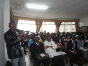 Participants at the 2014 launch of the Southwest Regional Reforestation Campaign in Buea
