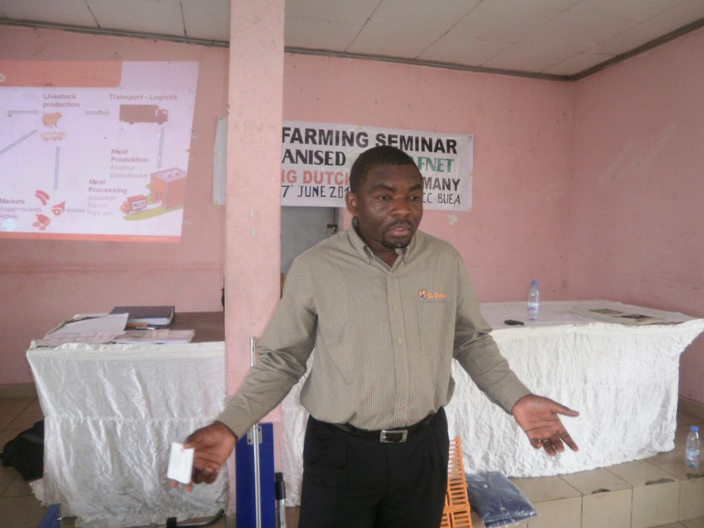 Patrick Herve Nouga of Big Dutchman - Cameroonian pig farmers must acquire new skills to improve on their production