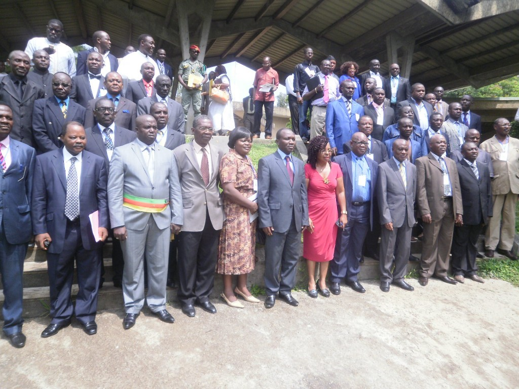 The Mayors from Southwest Region of Cameroon and UB officials in a family picture after the opening ceremony