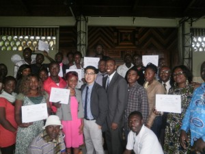 A family pic with journalists after the two-day workshop in Limbe