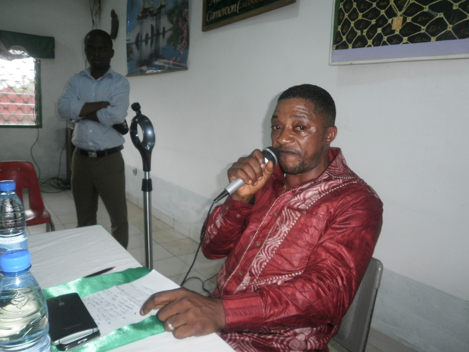 A look of Dr Fru at a press conference in the build up to African Traditional Medicine Day, August 31