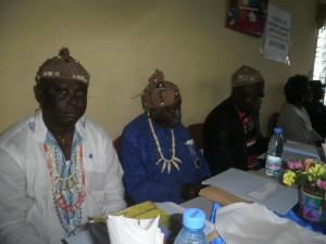 Traditional authorities of Buea at the stakeholders' meeting in CUIB