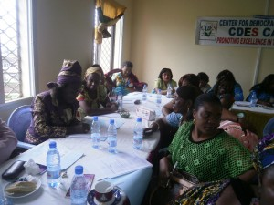 Women brainstorming on how to get access into decision-making processes