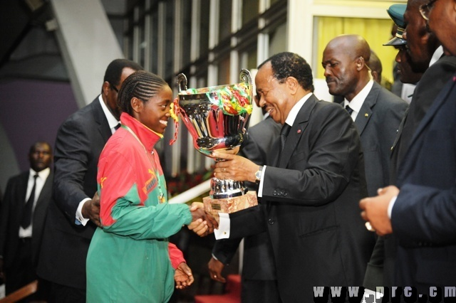 President Paul Biya is not only handing a trophy to a youth, he is preparing them for high-level training